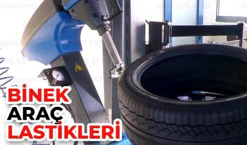 Araç lastiği üretim yeri. Bir adet makine araç lastiğinin dişe yapının ölçümünü yapıyor.